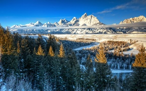Картинка Snake River, wyoming, grand teton, Ansel Adams