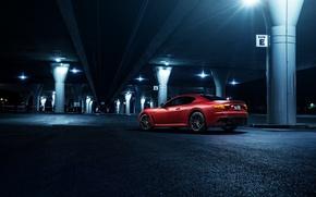 Картинка Maserati, Light, GranTurismo, California, Downtown, Exotic, Rear, Sportline, Freeway
