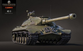 Картинка BigWorld, WoT, IS-3, Мир танков, tanks, рендер, Wargaming.Net, ИС-3, World of Tanks, танки, танк, USSR, ...