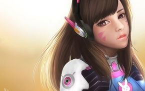 Картинка Game, Blizzard Entertainment, Overwatch, D.Va, Ханна Сон, Hanna Son
