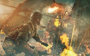 Картинка пожар, огонь, схватка, Dragon Firefight