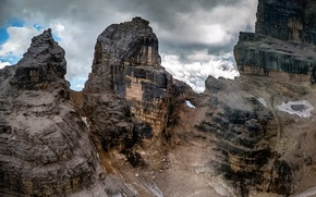 Картинка облака, скалы, Dolomites, Via Ferrata, Tofana di Rozes