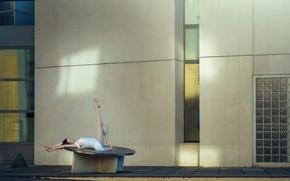 Картинка город, грация, ножки, балерина, пуанты, Malory De Lenclos