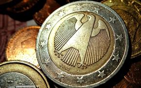 Обои German, евро, Euro, Монеты, Coins