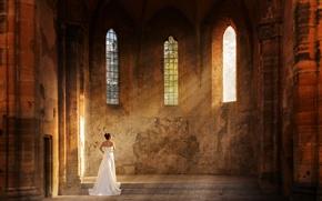 Картинка лучи, церковь, невеста, солнечные
