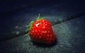 Картинка макро, еда, клубника, ягода, strawberry