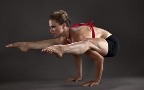 Картинка Девушка, гимнастика, спорт
