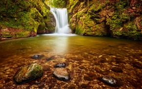 Обои водопад, Германия, Michael Breitung, Баден-Вюртемберг