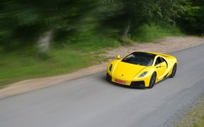 Картинка скорость, supercar, yellow, Spania, GTA Spano
