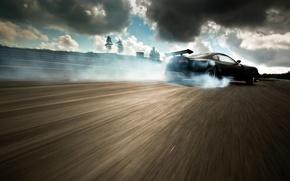 Картинка Supra, drift car at Gatebill 2011, Flat Black Toyota