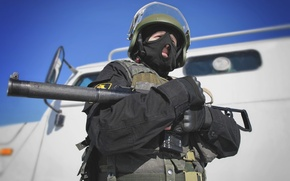 Картинка спецназ, АС Вал, шлем, Россия, автомат, солдат, маска, боец