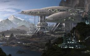Картинка mountains, planet, h3 factory