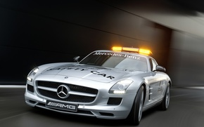 Обои 2010 F1 Safety Car, AMG, Mercedes SLS