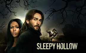 Картинка trees, horse, Headless Horseman, blue eyes, african american, gloomy, mystery series, Horseman of the Apocalypse, …