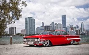 Картинка машина, авто, Chevrolet, 1960, Car, Impala, Wheels Boutique & HRE Wheels