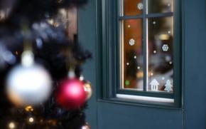 Картинка дом, праздник, игрушки