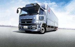 Картинка грузовик, Mitsubishi, Fuso