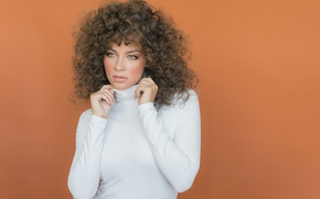 Картинка girl, eyes, brown, hair