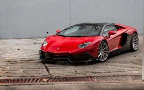 Картинка Roadster, Lamborghini, Red, Aventador, Anniversary, 50th