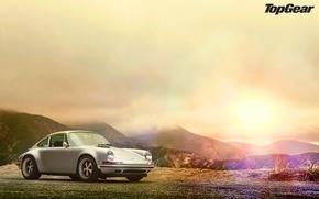 Картинка блики, Porsche 911, top gear, wallpapers, телепередача, топ гир