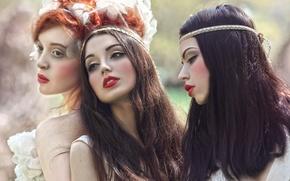 Картинка фантазия, арт, Dream, три девушки, Agnieszka Lorek