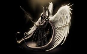 Картинка Fantasy, Games, Wall, Wallpaper, Angel, Archangel