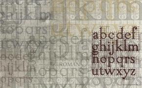 Обои алфавит, буквы, наслоения