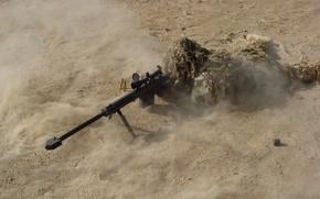 Обои снайпер, Песок, винтовка