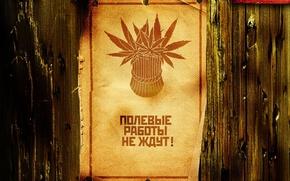 Картинка Лист, Забор, Обьява, плакат