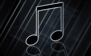 Картинка ноты, музыка, звуки
