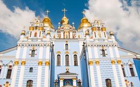 Картинка церковь, храм, Украина, купола, Киев, Ukraine, Kiev, Temples