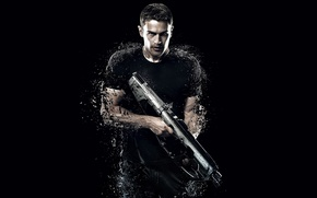 Картинка The Divergent Series, Divergent 2, Insurgent, movie, weapon, gun, actor, film, cinema, warrior, 2015, shotgun, ...