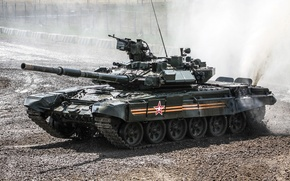 Картинка грязь, танк, полигон, бронетехника, Т-90