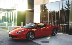 Обои ferrari, 458, spyder, red