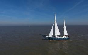 Картинка море, корабль, парусник, Северное, викинги