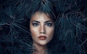 Картинка взгляд, макияж, иголочки, Alessandro Di Cicco, Queen of the woods