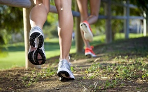 Обои legs, shoes, outdoor, running, physical activity, jogging