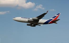 Картинка Sky, Blue, Airlines, Airplane, Aviation, IL-96-300, Cubana
