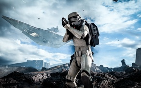 Картинка Взгляд, Electronic Arts, DICE, Штурмовик, Stormtrooper, Star Wars: Battlefront