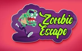 Картинка рисунок, зомби, zombie, escape, наклейка, sticker, csgo, pink background, plague, магнитик, мерский зомбяра