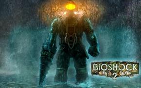 Картинка Огни, Скафандр, BioShock 2, Sea of Dreams
