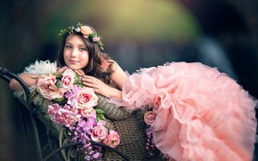 Картинка цветы, платье, Floral Princess, Ashlyn Mae.девочка