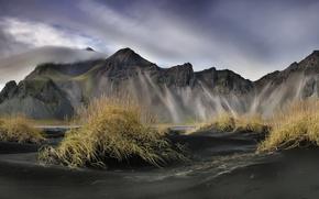 Обои небо, Исландия, горы
