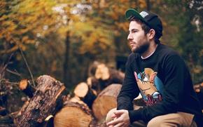 Картинка осень, настроение, мужчина, Alex
