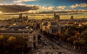 Картинка вид, сверху, Испания, Мадрид