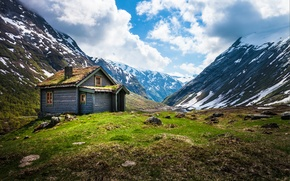 Картинка горы, Норвегия, хижина, Norway