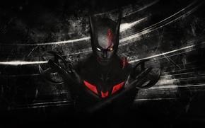 Картинка оружие, костюм, комиксы, Фантастика, раны, DC Comics, Бэтаранги, Бэтмен Будущего, Batman Beyond