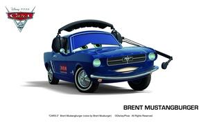 Картинка pixar, машинки, тачки 2, cars 2, brent mustangburger