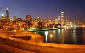 Картинка city, город, Чикаго, USA, Chicago, Illinois