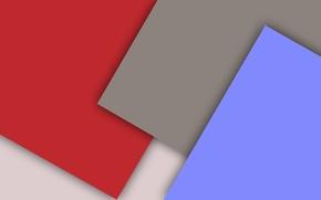 Картинка белый, красный, серый, голубой, геометрия, material
